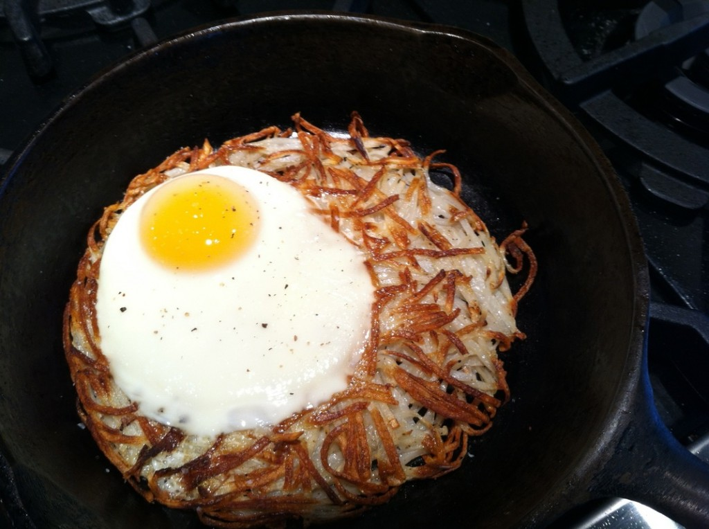 potato galette with egg