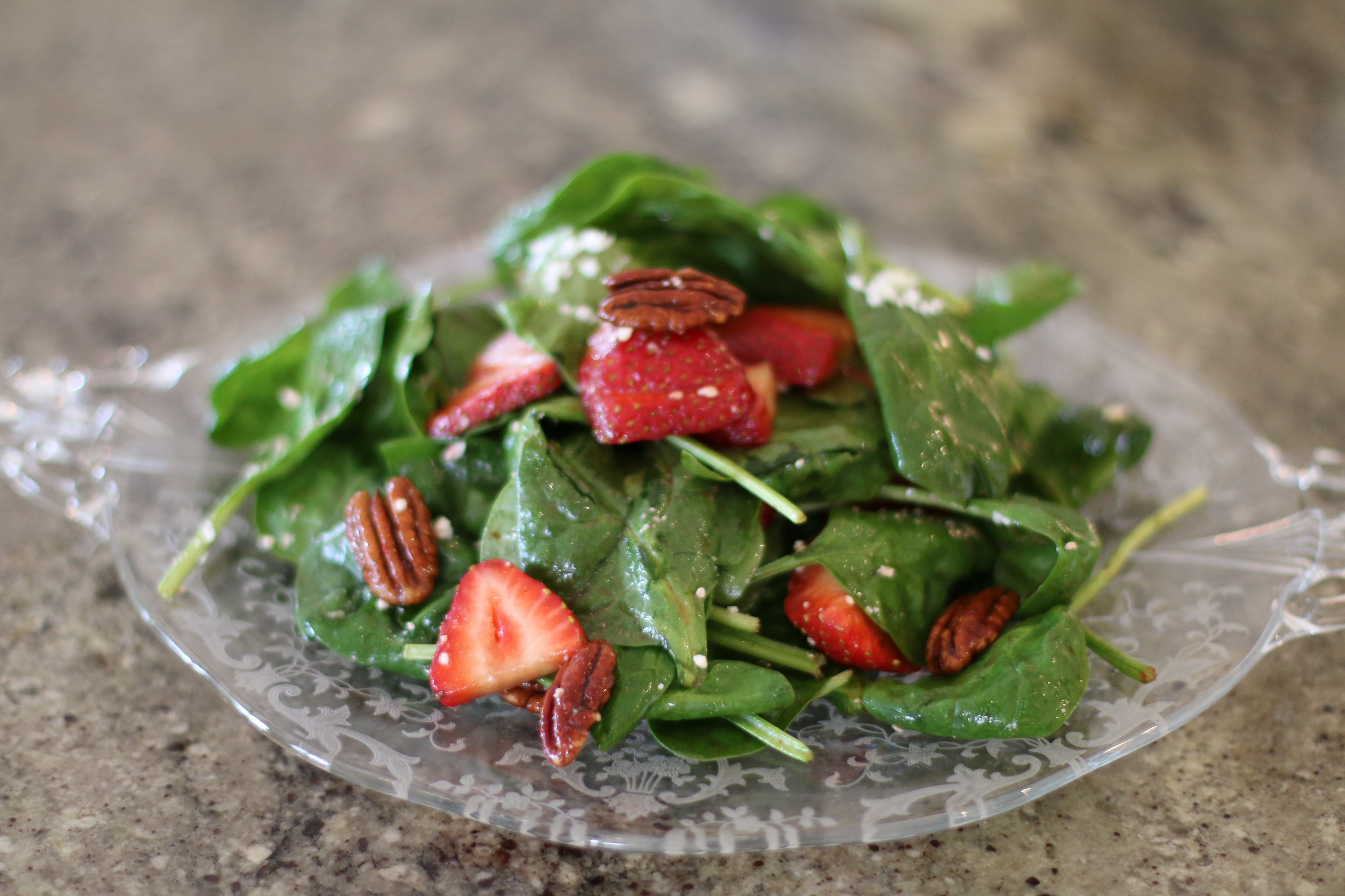 Spinach and Strawberry Salad – The Delectable Feast