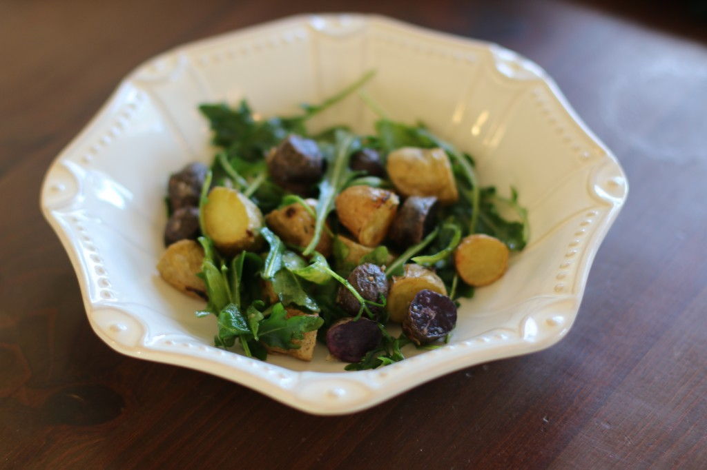 Roasted Potato and Arugula Salad