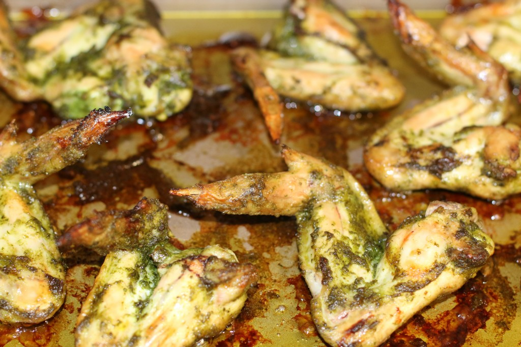 Cilantro Garlic Chicken Wing Recipe