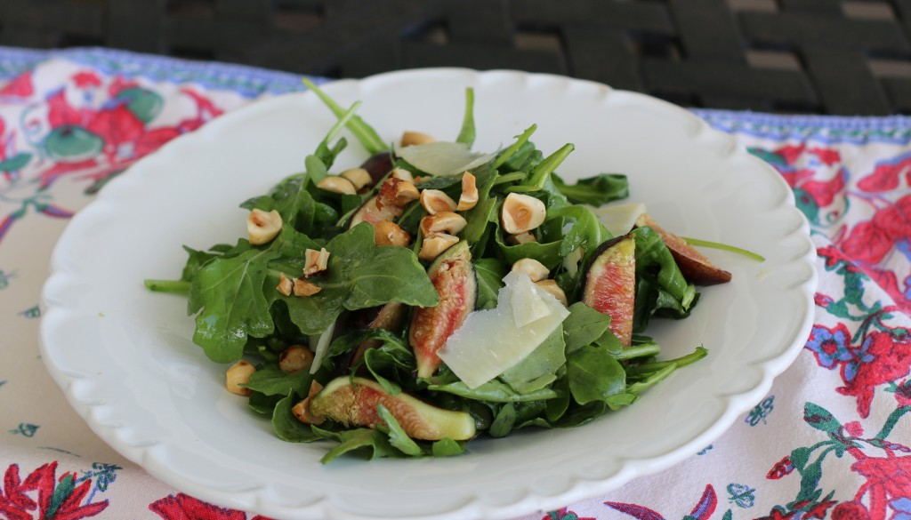 Arugula Salad with Fresh Figs, Toasted Hazelnuts and ...